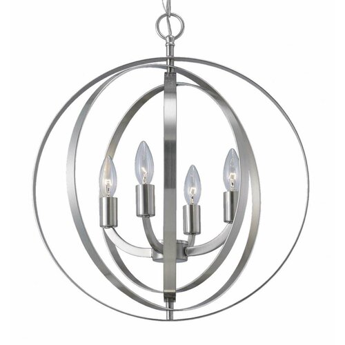 Hendry 4 - Light Unique / Statement Globe Chandelier & Reviews .