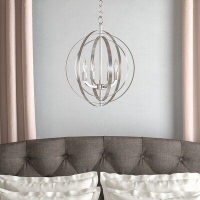 Hendry 4 Light Globe Chandeliers