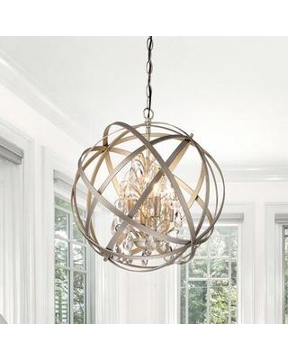 Spectacular Deals on Dalveen 4 - Light Statement Globe Chandelier .
