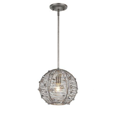 Willa Arlo Interiors Hermione 1 - Light Single Globe Pendant in .