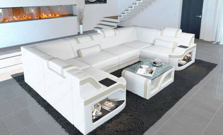 Leather Sectional Sofa Manhattan U in 2020 | Leather sectional .