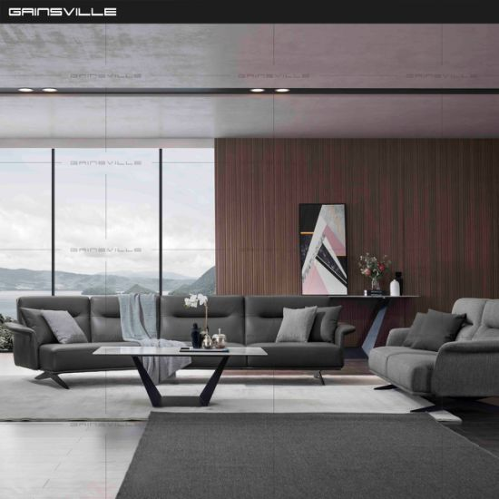 China Comtemporary Furniture Leather Sectional Sofa with High .