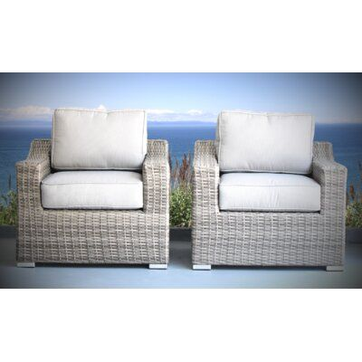 Sol 72 Outdoor Dayse Patio Chair with Cushions Frame Colour: Grey .