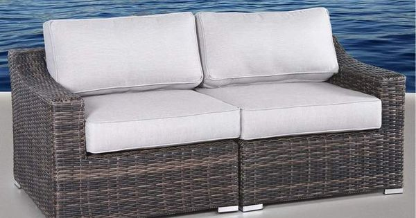 Sol 72 Outdoor Dayse Loveseat with Cushions | Wicker patio .