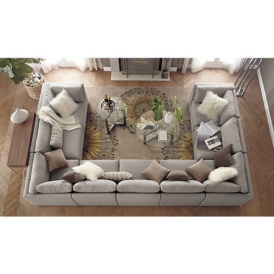 Sale | Crate and Barrel | U shaped sofa, U shaped couch, Family ro