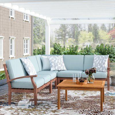 Hursey Patio Sectional | Circular patio, Patio daybed, Furnitu