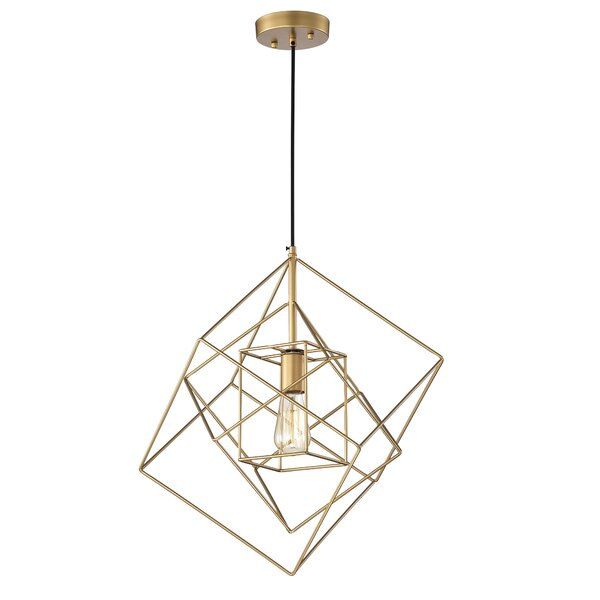 Brayden Studio® Eastgate 1 - Light Single Geometric Pendant .