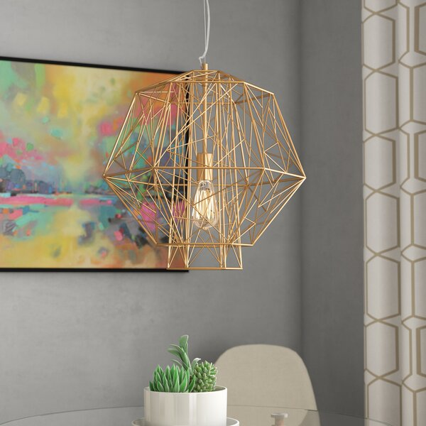Hydetown 1 Light Single Geometric Pendants