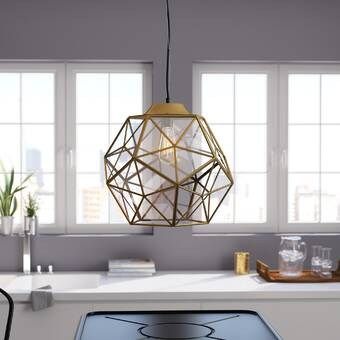 Brayden Studio® Edelman 1 - Light Single Geometric Pendant .