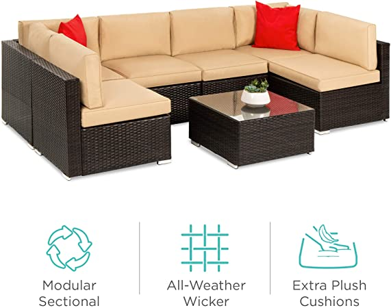 Amazon.com: Best Choice Products 7-Piece Modular Outdoor .