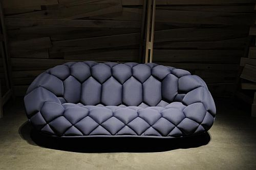 Quilt Inflatable Sofa Looks Like Giant Soccer Ba