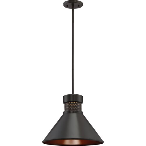 Trent Austin Design® Irwin 1 - Light Single Cone LED Pendant .