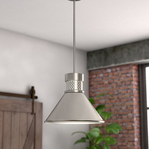 Trent Austin Design Irwin 1-Light LED Single Cone Pendant .