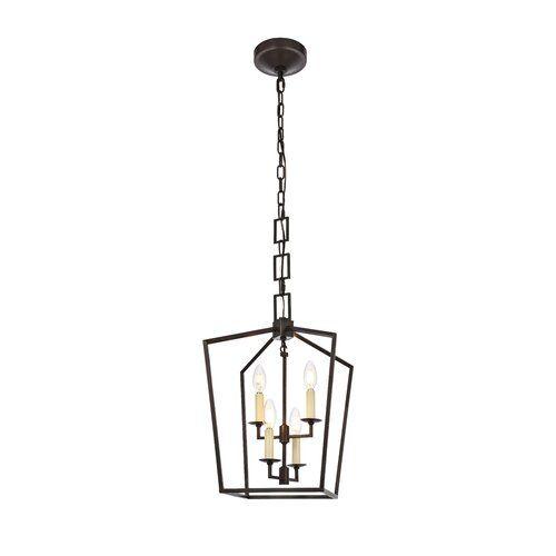 Tiana 4 - Light Lantern Geometric Pendant | Geometric chandelier .