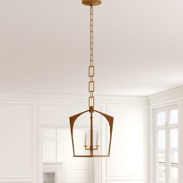 Everly Quinn Isoline 2-Light Lantern Geometric Pendant & Reviews .