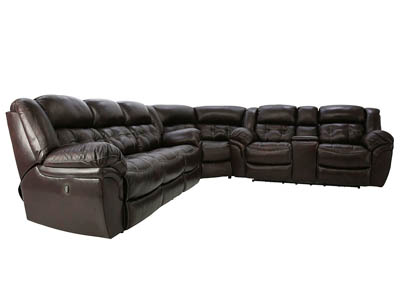 HUDSON CHOCOLATE 3 PIECE LEATHER SECTIONAL Ivan Smi