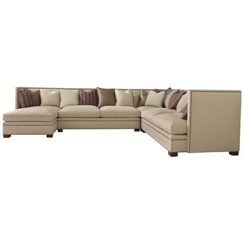 Bernhardt Gramercy Gramercy Transitional Sectional Sofa with Nail .