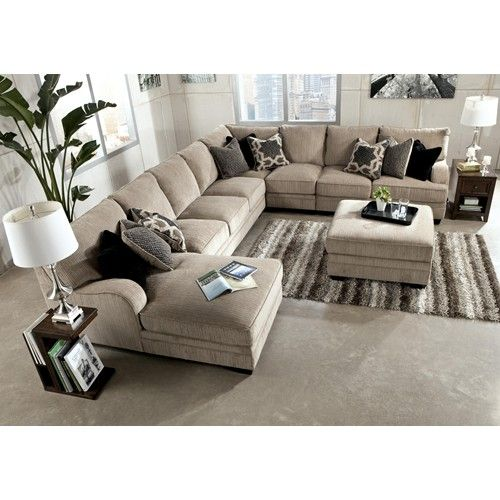 Signature Design by Ashley Katisha - Platinum 5-Piece Sectional .