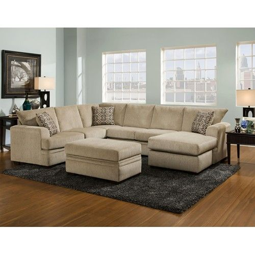 American Furniture 6800 Sectional Sofa with Right Side Chaise .