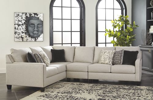 Hallenberg Fog RAF Loveseat, Armless Chair & LAF Sofa with Corner .