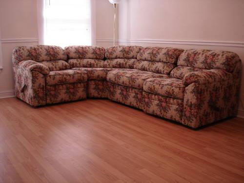 Beautiful Tapestry Sectional Sofa with 2 Incliners for Sale in .