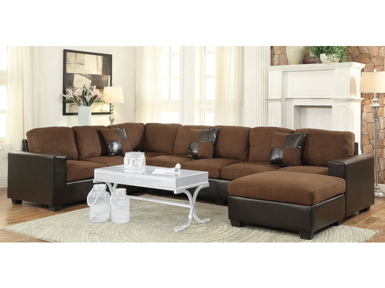 Acme Furniture Living Room Dannis Sectional Sofa - Fulton Stores .