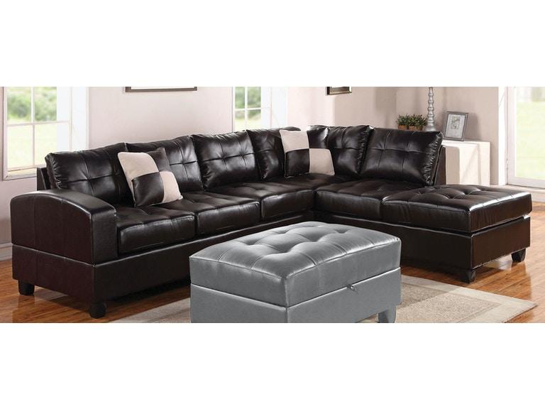 Acme Furniture Living Room Kiva Sectional Sofa - Fulton Stores .