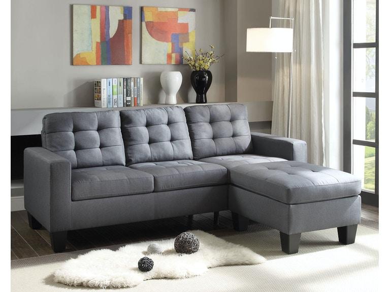 Acme Furniture Living Room Earsom Sectional Sofa - Fulton Stores .
