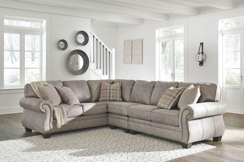 The Olsberg Steel LAF Sofa with Corner Wedge, Armless Chair & RAF .