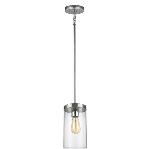Orren Ellis Tallapoosa 1 - Light Single Cylinder Pendant & Reviews .