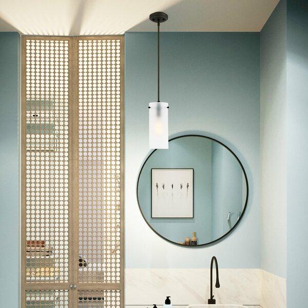 Gracie Oaks Barham 1 - Light Single Cylinder Pendant & Reviews .