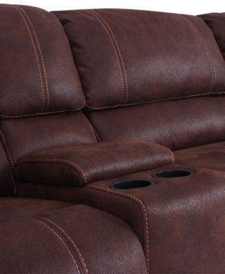 Jedd Fabric 6-Pc. Power Motion Reclining Sectional Sofa (2 .