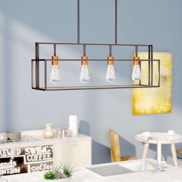 Jefferson 4-Light Kitchen Island Linear Pendant | Kitchen lighting .