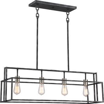 AllModern Hembree 4 - Light Kitchen Island Linear LED Pendant .
