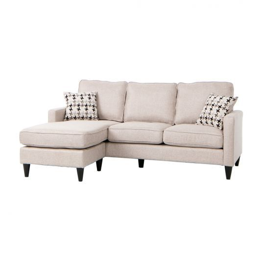 Nova Sectional Sofa Chaise in Gray | Jerome's Furniture .
