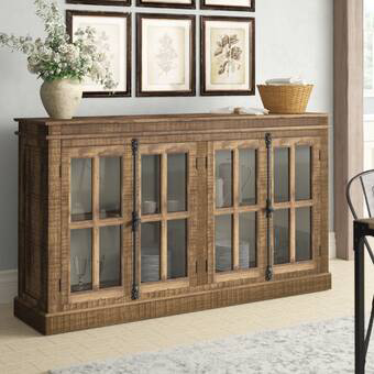 """Jessenia 75"""" Wide Sideboard in 2020 (With images)   Modern ."""