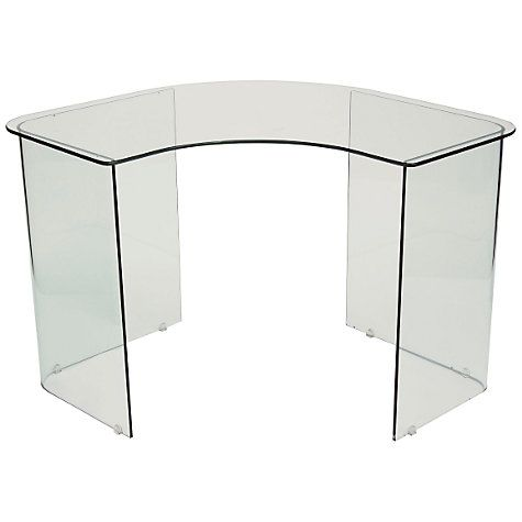 Buy John Lewis Staten Glass Corner Desk | John Lewis | Glass .