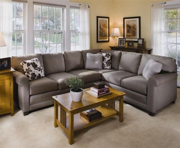 365 Upholstered Stationary Sectional by Smith Brothers - Johnny .