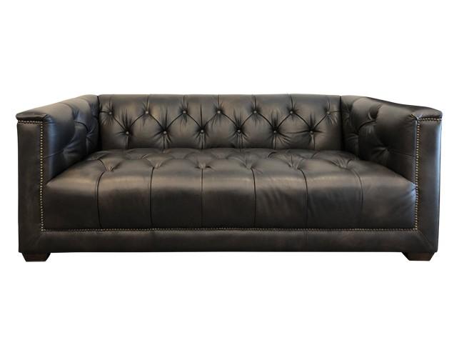 Restoration Hardware 6' Savoy Tufted Leather Sofa • The Local Vau