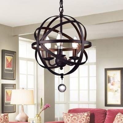 Joon 6 - Light Candle Style Globe Chandelier   Warehouse of .