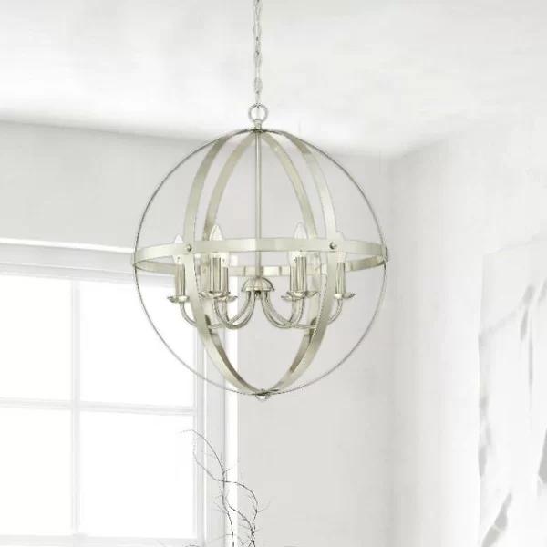 Joon 6 - Light Candle Style Globe Chandelier   Globe chandelier .
