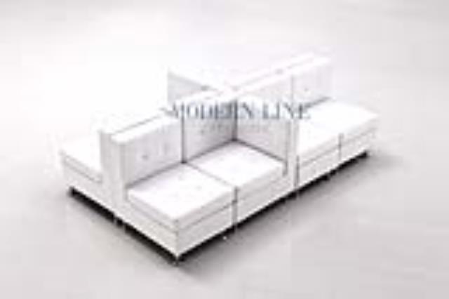 Modular white leather sectional seating rentals Tulsa OK | Where .