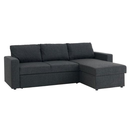MARIAGER Interchangeable Sectional Sofa Bed With Storage (Dark .