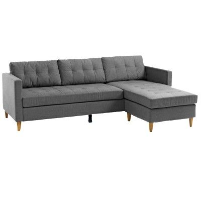 FALSLEV Sectional Sofa with Chaise (Grey) in 2020 | Sectional sofa .