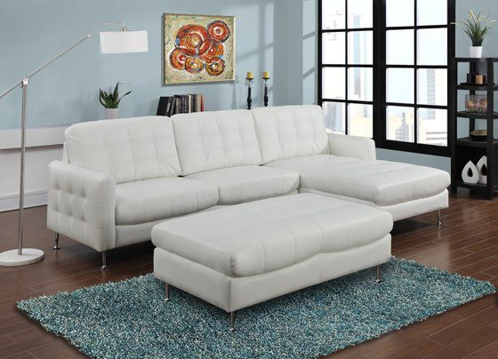 We can't keep our eyes off an all white sectional like our .