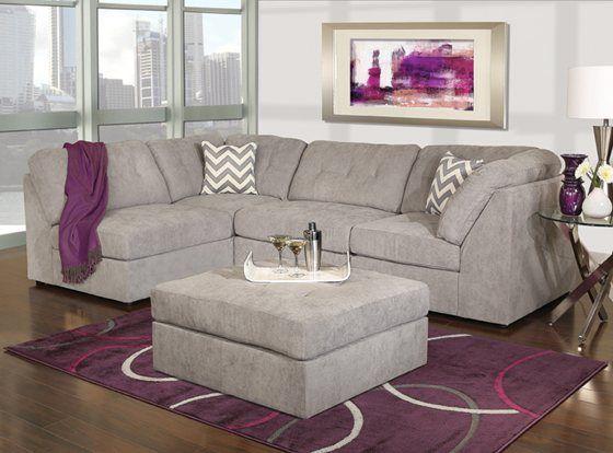 Kane's Furniture - Caprice 4 Piece 2 Armless Chairs/2 Corner .