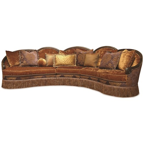 Rachlin Classics Grace Traditional 3pc Conversational Sectional .
