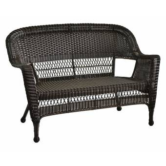 Karan Wicker Patio Loveseat & Reviews | Birch La