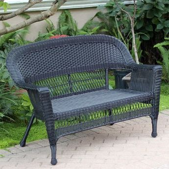 Ophelia & Co. Karan Wicker Patio Loveseat | Patio loveseat, Love .