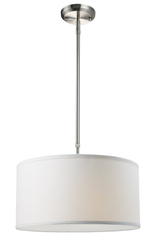 Kasey 3-Light Single Drum Pendant (With images) | Contemporary .